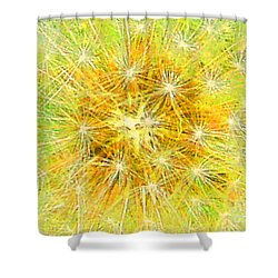 Make A Wish In Greenish Yellow Shower Curtain by Jennifer E Doll