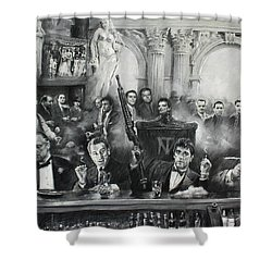 Make Way For The Bad Guys Shower Curtain by Ylli Haruni