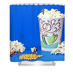 Making Popcorn Shower Curtain by Paul Ge
