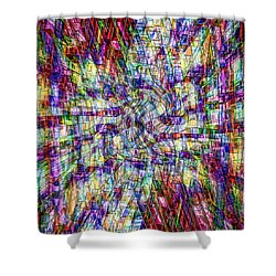 Making Sense Of Things Shower Curtain by Kellice Swaggerty