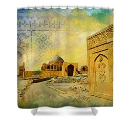 Makli Hill Top Shower Curtain by Catf