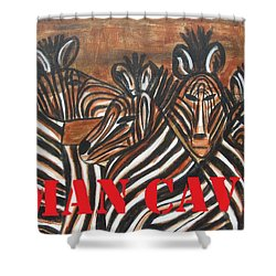 Man Cave Shower Curtain by Diane Pape