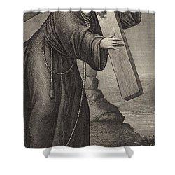 Man Of Sorrow Shower Curtain by English School