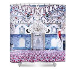 Manavgat Mosque Interior 01 Shower Curtain by Antony McAulay