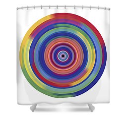 Mandala 3 Shower Curtain by Rozita Fogelman