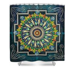 Mandala Night Wish Shower Curtain by Bedros Awak