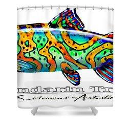 Mandarin Trout Savlenicus Artisticus Shower Curtain by Savlen Art