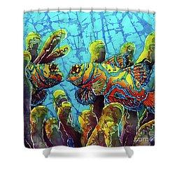Mandarinfish  Shower Curtain by Sue Duda