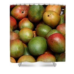 Mangoes Shower Curtain by Carol Groenen