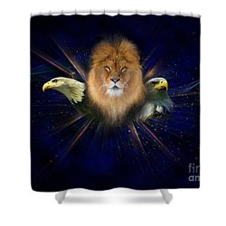 Manifold Presence Shower Curtain by Tamer and Cindy Elsharouni
