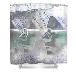Mannequin With Glasses In Digital Art Shower Curtain by Toppart Sweden