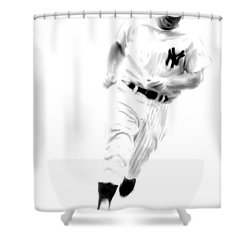 Mantles Gate  Mickey Mantle Shower Curtain by Iconic Images Art Gallery David Pucciarelli