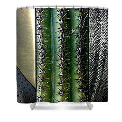 Manufactured Ouch Shower Curtain by Marlene Burns