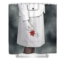 Maple Leaf Shower Curtain by Joana Kruse