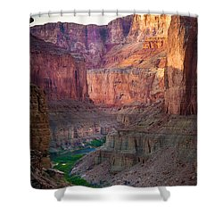 Marble Cliffs Shower Curtain by Inge Johnsson
