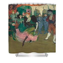 Marcelle Lender Dancing The Bolero In Chilperic Shower Curtain by Toulouse-Lautrec