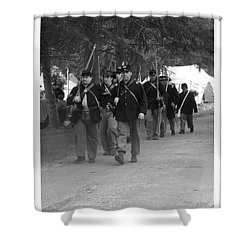 Marching Off To Battle Shower Curtain by Sara  Raber