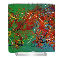 Mardi Gras Shower Curtain by Donna Blackhall