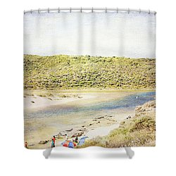 Margaret Rivermouth In Western Australia Shower Curtain by Elaine Teague