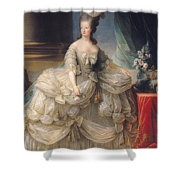 Marie Antoinette Queen Of France Shower Curtain by Elisabeth Louise Vigee-Lebrun
