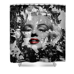 Marilyn Monroe 5 Shower Curtain by Andrew Fare