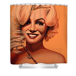 Marilyn Monroe 5 Shower Curtain by Paul Meijering