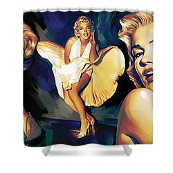Marilyn Monroe Artwork 3 Shower Curtain by Sheraz A