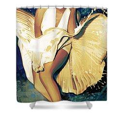 Marilyn Monroe Artwork 4 Shower Curtain by Sheraz A