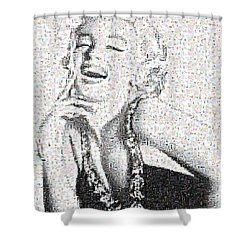Marilyn Monroe In Mosaic Shower Curtain by Angela A Stanton