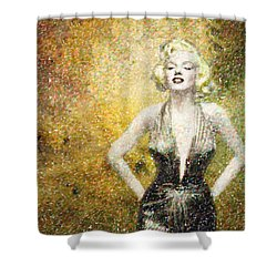 Marilyn Monroe In Points Shower Curtain by Angela A Stanton
