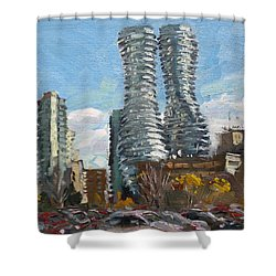 Marilyn Monroe Towers In Mississauga Shower Curtain by Ylli Haruni