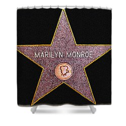 Marilyn Monroe's Star Painting  Shower Curtain by Bob and Nadine Johnston