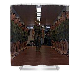 Marine Basic Training Shower Curtain by Mountain Dreams