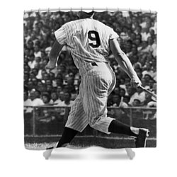 Maris Hits 52nd Home Run Shower Curtain by Underwood Archives
