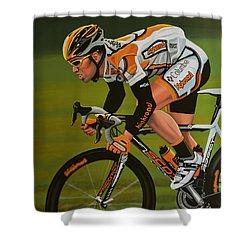 Mark Cavendish Shower Curtain by Paul Meijering