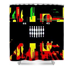 Mark It Zero Shower Curtain by Benjamin Yeager