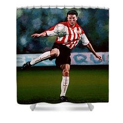 Mark Van Bommel Shower Curtain by Paul Meijering