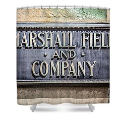 Marshall Field And Company Sign In Chicago Shower Curtain by Paul Velgos