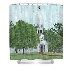 Martha Mary Chapel Shower Curtain by Cliff Wilson
