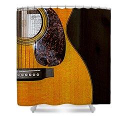 Martin Guitar  Shower Curtain by Bill Cannon