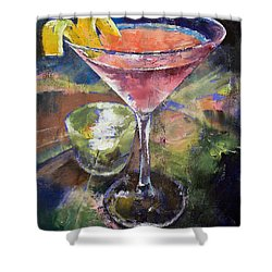Martini Shower Curtain by Michael Creese