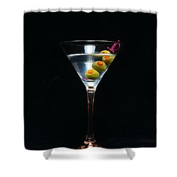 Martini Shower Curtain by Paul Ward
