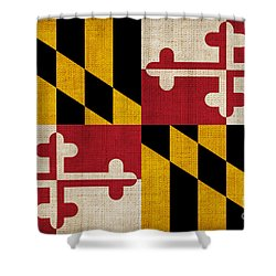 Maryland State Flag Shower Curtain by Pixel Chimp