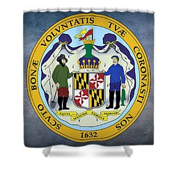 Maryland State Seal Shower Curtain by Movie Poster Prints