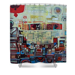 Maseed Maseed 2 Shower Curtain by Mohamed Fadul