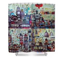 Maseed Maseed 3 Shower Curtain by Mohamed Fadul