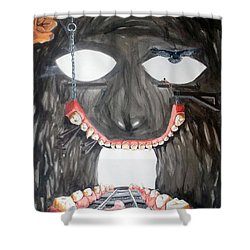Masquera Carcaza  Shower Curtain by Lazaro Hurtado