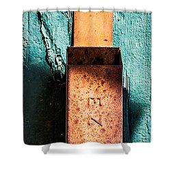 Match Box Shower Curtain by  Onyonet  Photo Studios