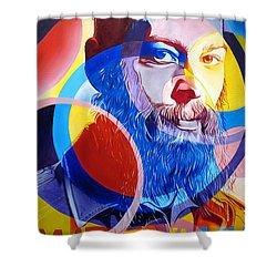 Matisyahu In Circles Shower Curtain by Joshua Morton
