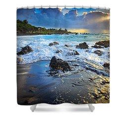 Maui Dawn Shower Curtain by Inge Johnsson